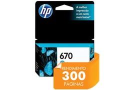 CARTUCHO DE TINTA INK ADVANTAGE HP SUPRIMENTOS CZ114AB HP 670 CIANO 3,5 ML