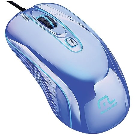 MOUSE WARRIOR GAME PRATEADO COM LED USB MO228 800/1200/1600DPI - MULTILASER - loja online