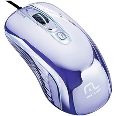 MOUSE WARRIOR GAME PRATEADO COM LED USB MO228 800/1200/1600DPI - MULTILASER - comprar online