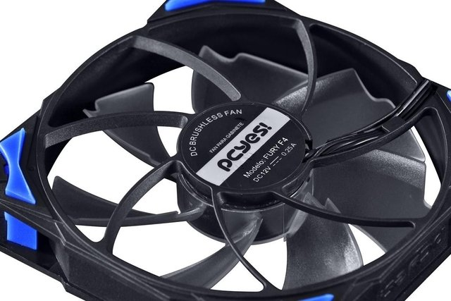 COOLER FAN PARA GABINETE 120MM FURY F4 LED AZUL - F4120LDAZ - comprar online
