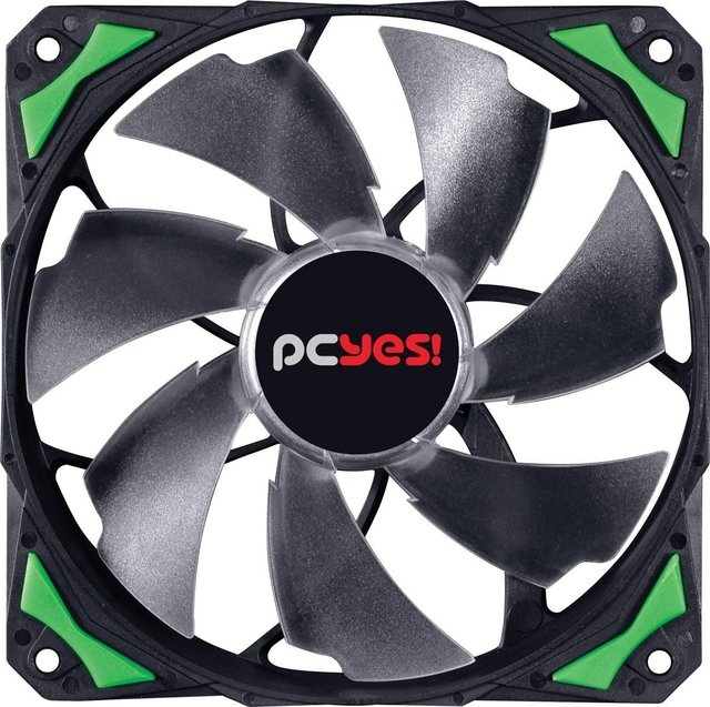 COOLER FAN PARA GABINETE 120MM FURY F4 LED VERDE - F4120LDVD - comprar online