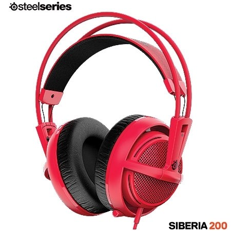 FONE DE OUVIDO HEADSET SIBERIA 200 GAMING FORGED RED - 51135 - STEELSERIES