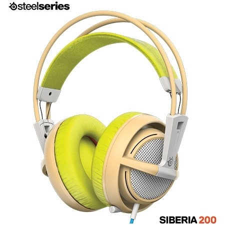 FONE DE OUVIDO HEADSET SIBERIA 200 GAMING GAIA GREEN - 51137 - STEELSERIES