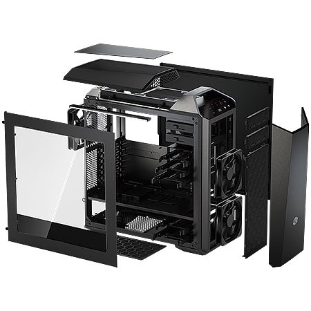 GABINETE GAMER MID-TOWER MASTER CASE MAKER 5 LATERAL EM ACRILICO - MCZ-005M-KWN00 - COOLER MASTER na internet