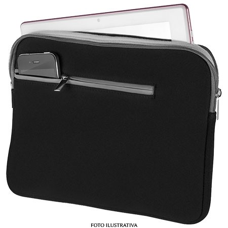 CASE NOTEBOOK 14'' PRETO E CINZA BO207 - MULTILASER