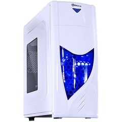 GABINETE MIDTOWER VX GAMING ECLIPSE V2 BRANCO, FAN FRONTAL 120MM LED AZUL, USB 3.0 E JANELA ACRÍLICA - VINIK