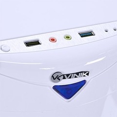 GABINETE MIDTOWER VX GAMING ECLIPSE V2 BRANCO, FAN FRONTAL 120MM LED AZUL, USB 3.0 E JANELA ACRÍLICA - VINIK - comprar online