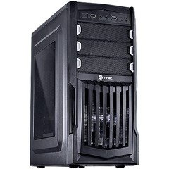 GABINETE MIDTOWER VX GAMING THUNDER V2 PRETO FAN FRONTAL 120MM LED BRANCO, USB 3.0 E JANELA ACRÍLICO - VINIK