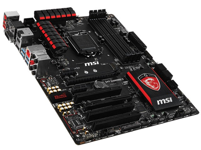 PLACA MAE LGA 1150 INTEL SERIE 9 MSI Z97 GAMING 3 ATX DDR3 3300MHZ CHIPSET Z97 RAID CROSSFIRE na internet