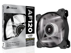MICROVENTILADOR PARA GABINETE CORSAIR CO-9050015-WLED AF120 120MM QUIET EDITION COM LED BRANCA