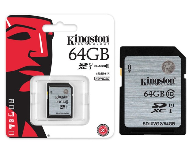 CARTAO DE MEMORIA CLASSE 10 KINGSTON SD10VG2/64GB SECURE DIGITAL SDXC 64GB UHS-I
