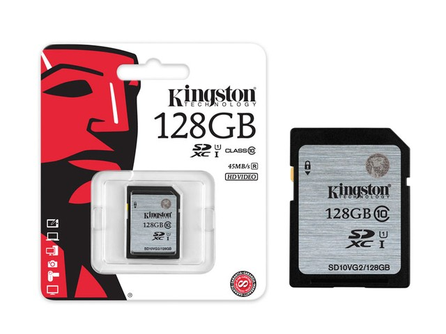 CARTAO DE MEMORIA CLASSE 10 KINGSTON SD10VG2/128GB SECURE DIGITAL SDXC 128GB UHS-I