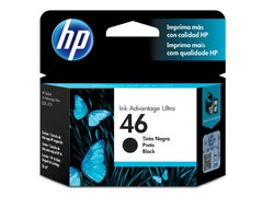 CARTUCHO DE TINTA INK ADVANTAGE HP SUPRIMENTOS CZ637AL HP 46 PRETO 26 ML