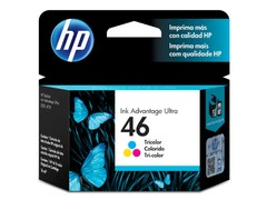 CARTUCHO DE TINTA INK ADVANTAGE HP SUPRIMENTOS CZ638AL HP 46 TRICOLOR 16 ML