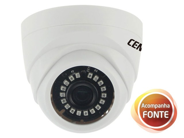 CAMERA IP INTERNA CENTRIUM SECURITY DOME 1/3 SONY 1.3 MEGAPIXELS HD 20 METROS COM FONTE