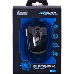 Mouse Gamer BLACK HAWK OM-703 Preto/Azul FORTREK na internet