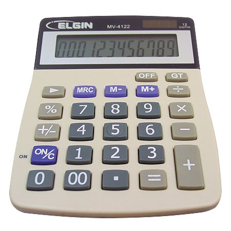 CALCULADORA DE MESA MV-4122 - ELGIN na internet