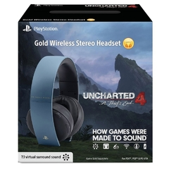 HEADSET GOLD UNCHARTED 4 EDITION PS4