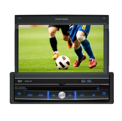 "Auto Rádio Positron DVD Player SP-6700DTV 7"" Retrátil/ USB/ MP3/ TV Digital"