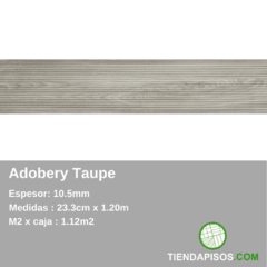 PORCELANATO SIMIL MADERA ADOBERY TAUPE 23,3 CM X 120 CM X 10,5MM - comprar online