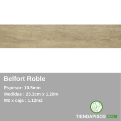 PORCELANATO SIMIL MADERA BELFOR ROBLE 23,3 cm x 120 cm x 10,5MM - comprar online