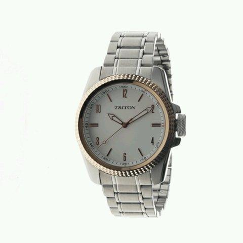 d27096360 Relógio Triton eyewear prata e bronze com fundo branco