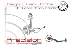 Omega 07/... - Kit Buchas Braço Inferior Curvo Diant. Pu - Precision Suspension Parts