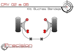 Honda Cr-v - Crv - 02 A 06 - Kit Buchas Bandeja Em Pu - Precision Suspension Parts