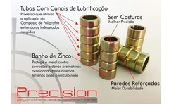 Saveiro Bola - Kit Bucha Amortecedor Pu - 5 Anos Garantia - Precision Suspension Parts
