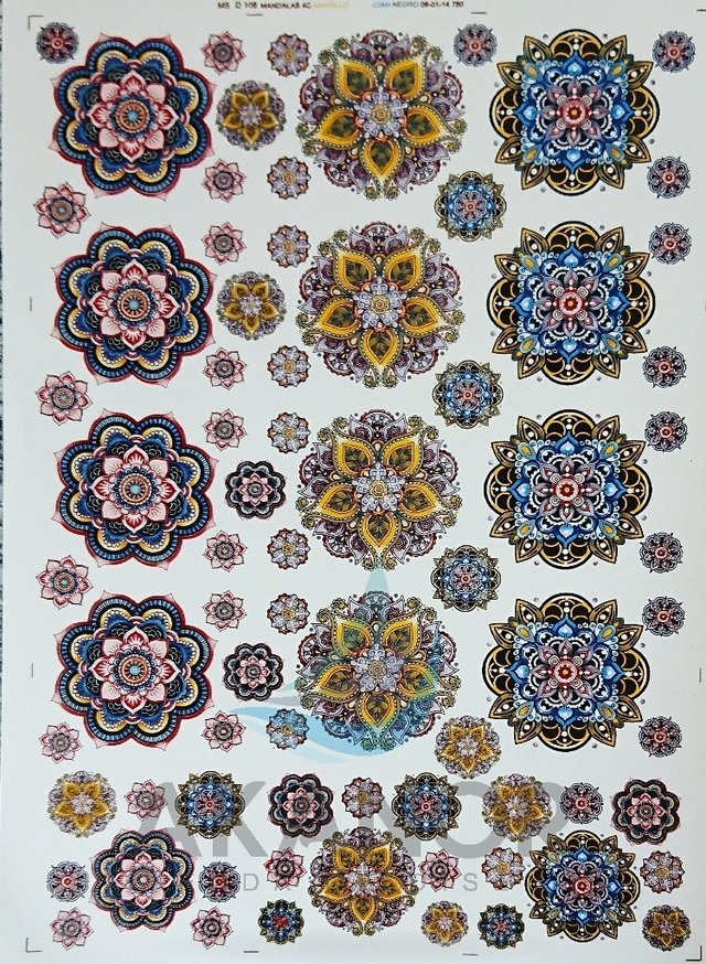 Calco Vitrificable Mandalas Color
