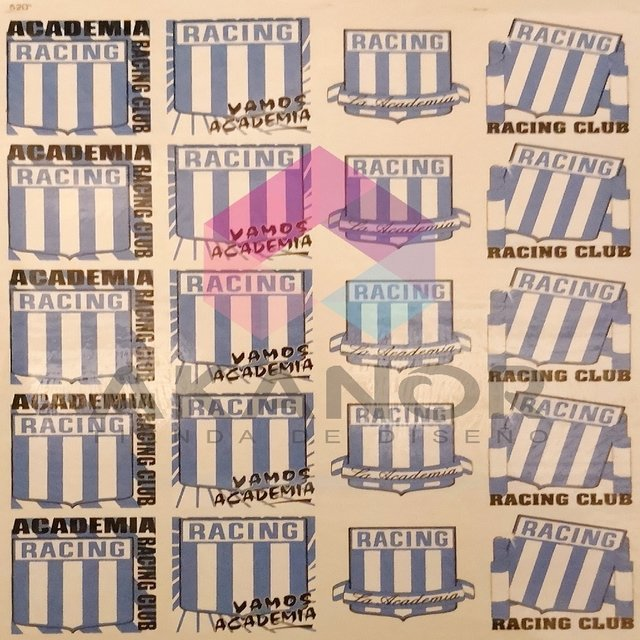 Calco Vitrificable Racing Club Vidrio