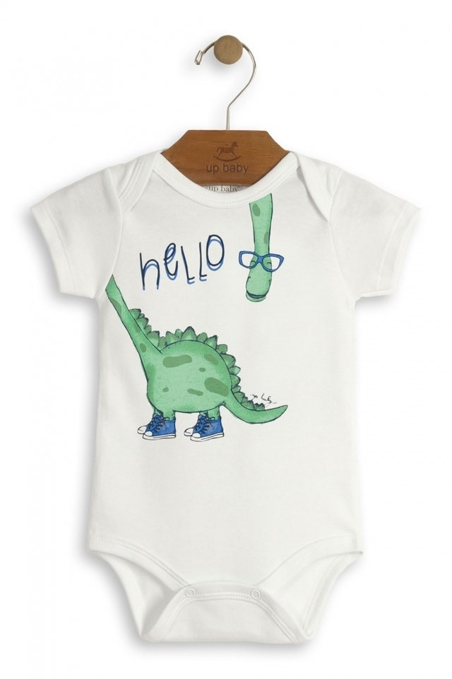 Up Baby - Body manga curta Dino