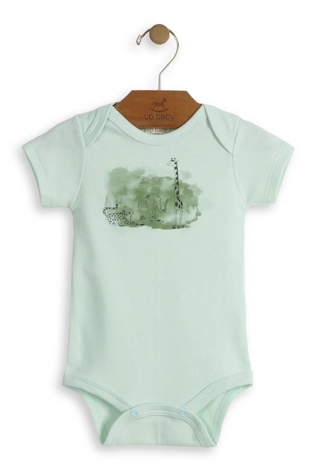 Up Baby - Body manga curta Floresta
