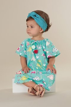 Vestido Estampa Cisne - Up Baby