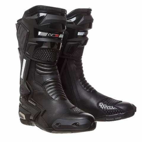 Botas Ls2 Racing Br01 Black Waterproof Road Grip Moto Delta