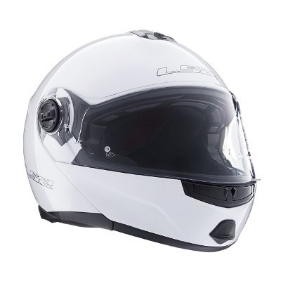 Casco Ls2 Ff386 Ride Rebatible Blanco Doble Visor