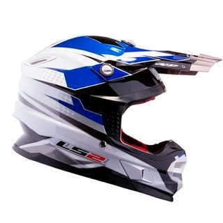 Casco Cross Ls2 Mx456 Factory White Air Go Dakar 2015 - Motodelta