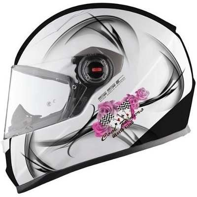 Casco Ls2 Ff358 Cool White Mujer