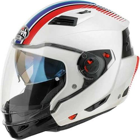 Casco Airoh Executive Stripes 2 En 1 Alta Gama Motodelta