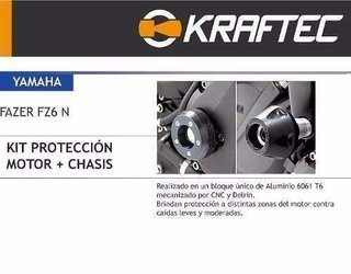 Sliders Proteccion De Carenado Yamaha Fz6 Kraftec Moto Delta