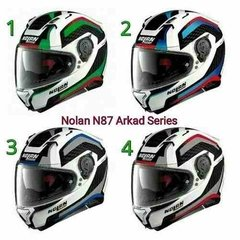 Casco Nolan N87 Arkad Doble Visor Made In Italy Moto Delta