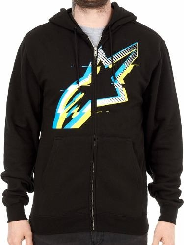 Campera Algodon Alpinestars Glitch Zip Fleece Moto Delta
