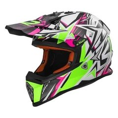 Casco Cross Ls2 Mx 437 Strong Pink Super Liviano! Moto Delta