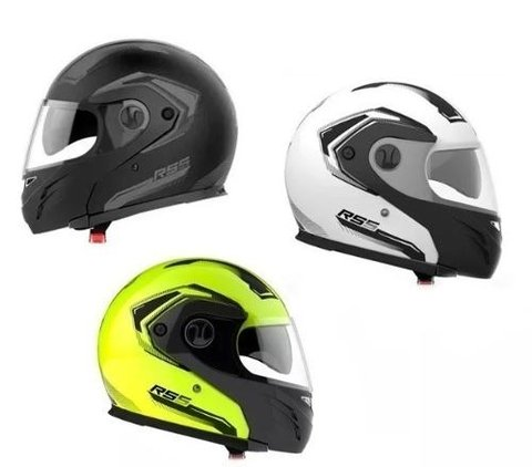 Casco Halcon Hawk Rs5 Vector Doble Visor Rebatible Motodelta