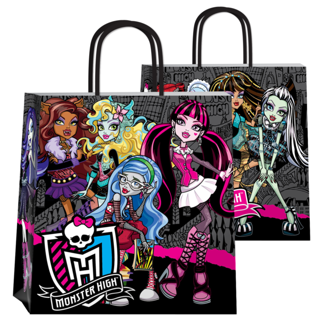 BOLSA MONSTER HIGH 22x10x24 (X10 UNIDADES)
