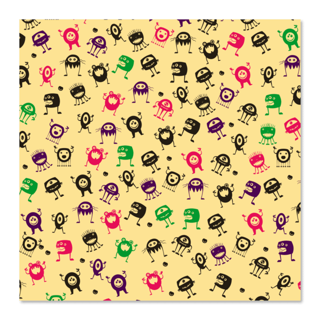PAPEL DE REGALO - MONSTERS 0.4m x 100m