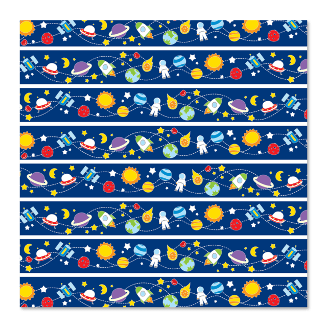 PAPEL DE REGALO - SPACE 0.6m x 100m
