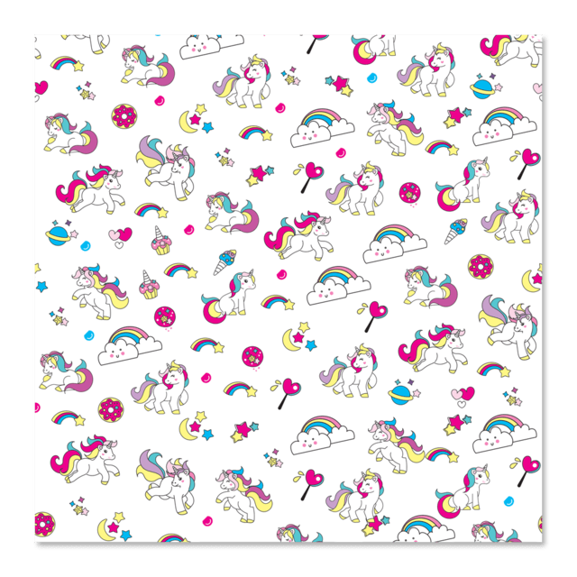 PAPEL DE REGALO - UNICORN 0.4m x 100m