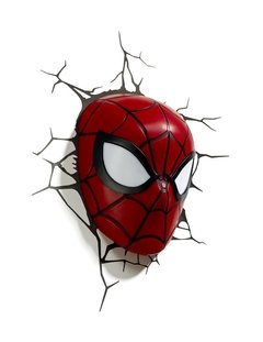 Spiderman Mascara Lampara Decorativa 3d - Led Original