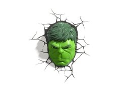 Hulk Mascara Lampara Decorativa 3d - Led De Pared Original